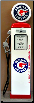 PONTIAC GAS PUMP - FULL SIZE REPRODUCTION OF OLD 1950s CLASSIC ANTIQUE COLLECTIBLE GAS STATION MEMORABILIA