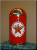 TEXACO STAR  DOME TRASH CAN -RED