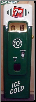 SEVEN UP  SODA MACHINE DOOR DISPLAY