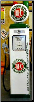 SINCLAIR HC GAS PUMP - FULL SIZE REPRODUCTION OF OLD 1950s CLASSIC ANTIQUE COLLECTIBLE GAS STATION MEMORABILIA