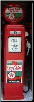 TEXACO SKY CHIEF GAS PUMP - FULL SIZE REPRODUCTION OF OLD 1950s CLASSIC ANTIQUE COLLECTIBLE GAS STATION MEMORABILIA