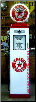 TEXACO ETHYL  GAS PUMP - FULL SIZE REPRODUCTION OF OLD 1950s CLASSIC ANTIQUE COLLECTIBLE GAS STATION MEMORABILIA