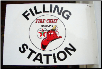 TEXACO FIRE CHIEF FILLING STATION RECTANGLE FLANGE SIGN  - WHITE