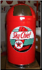 TEXACO SKY CHIEF  DOME TRASH CAN -RED