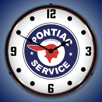 PONTIAC SERVICE  BACKLIT LIGHTED CLOCK