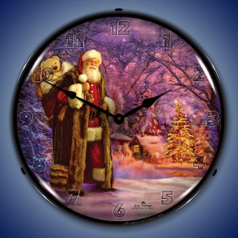 SAINT NICK  BACKLIT LIGHTED CLOCK