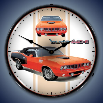 CUDA 440+6  BACKLIT LIGHTED CLOCK