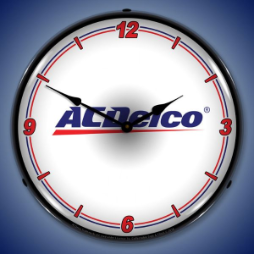 AC   DELCO WT  BACKLIT LIGHTED CLOCK
