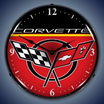 C5 CORVETTE  BACKLIT LIGHTED CLOCK