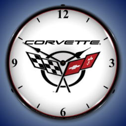 C5 CORVETTE 2  BACKLIT LIGHTED CLOCK