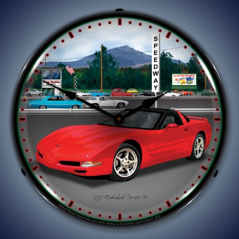 C5 RACEWAY BACKLIT LIGHTED CLOCK