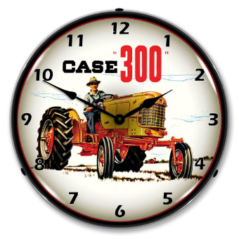 CASE 300 TRACTOR  BACKLIT LIGHTED CLOCK