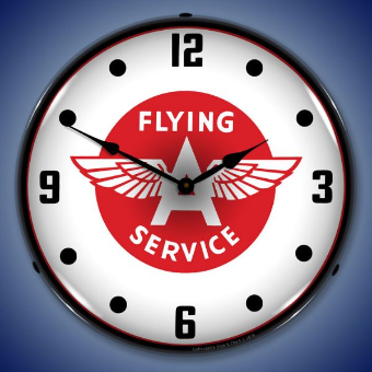 FLYING A SERVICE  BACKLIT LIGHTED CLOCK