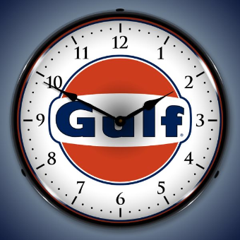 GULF  BACKLIT LIGHTED CLOCK