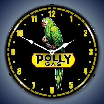 POLLY GAS BACKLIT LIGHTED CLOCK