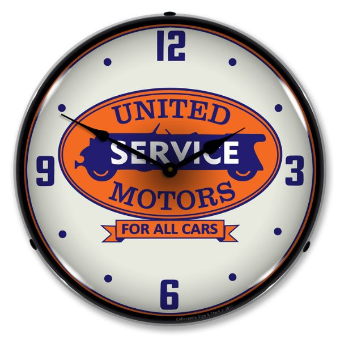 UNITED MOTORS SERVICE  BACKLIT LIGHTED CLOCK