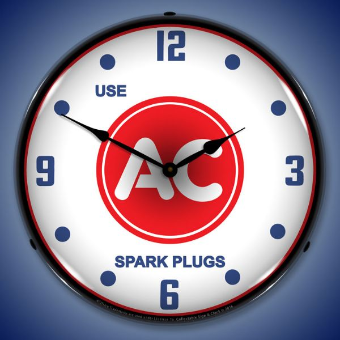 USE  AC   SPARK PLUGS  BACKLIT LIGHTED CLOCK