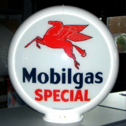 MOBILGAS SPECIAL GAS PUMP GLOBE - NEW FULL SIZE REPRODUCTION