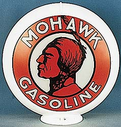 MOHAWK GASOLINE GAS PUMP GLOBE - NEW FULL SIZE REPRODUCTION