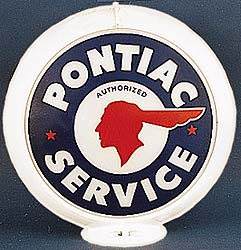 PONTIAC SERVICE GAS PUMP GLOBE - NEW FULL SIZE REPRODUCTION