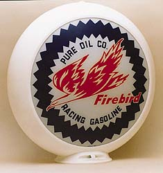 PURE FIREBIRD GAS PUMP GLOBE - NEW FULL SIZE REPRODUCTION