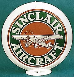 SINCLAIR AIRCRAFT GAS PUMP GLOBE - NEW FULL SIZE REPRODUCTION