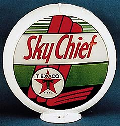 TEXACO SKY CHIEF GAS PUMP GLOBE - NEW FULL SIZE REPRODUCTION