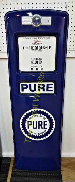 PURE GAS PUMP DOOR DISPLAY