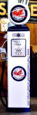 PURE FIREBIRD GAS PUMP - FULL SIZE REPRODUCTION OF OLD 1950s CLASSIC ANTIQUE COLLECTIBLE GAS STATION MEMORABILIA