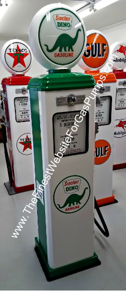 SINCLAIR DINO GAS PUMP - FULL SIZE REPRODUCTION OF OLD 1950s CLASSIC ANTIQUE COLLECTIBLE GAS STATION MEMORABILIA