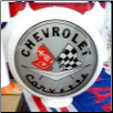 CHEVROLET CORVETTE (BLACK LETTERS) GAS PUMP GLOBE - NEW FULL SIZE REPRODUCTION