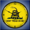 DON'T TREAD ON ME  BACKLIT LIGHTED CLOCK