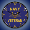 NAVY VETERAN BACKLIT LIGHTED CLOCK