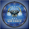 UNITED STATES  AIR FORCE BACKLIT LIGHTED CLOCK