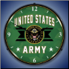 UNITED STATES  ARMY  BACKLIT LIGHTED CLOCK