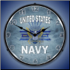 UNITED STATES  NAVY  BACKLIT LIGHTED CLOCK