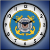 US COAST GUARD  BACKLIT LIGHTED CLOCK
