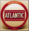 ATLANTIC  GAS PUMP GLOBE - NEW FULL SIZE REPRODUCTION