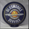 OLDSMOBILE SERVICE GAS PUMP GLOBE - NEW FULL SIZE REPRODUCTION