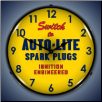 AUTOLITE SPARK PLUGS  BACKLIT LIGHTED CLOCK