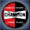 CHAMPION SPARK PLUG BACKLIT LIGHTED CLOCK