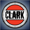 CLARK GAS  BACKLIT LIGHTED CLOCK
