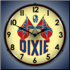 DIXIE GAS  BACKLIT LIGHTED CLOCK