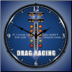 DRAG RACING  BACKLIT LIGHTED CLOCK