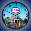 ESSO GAS STATION  BACKLIT LIGHTED CLOCK