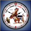 ESSO TIGER  BACKLIT LIGHTED CLOCK