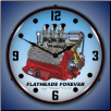 FLATHEAD V8  BACKLIT LIGHTED CLOCK