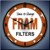 FRAM FILTERS  BACKLIT LIGHTED CLOCK