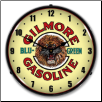 GILMORE GAS  BACKLIT LIGHTED CLOCK