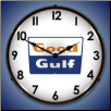 GOOD GULF  BACKLIT LIGHTED CLOCK